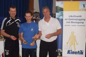 Peter Schreiner hier mit Horst Lutz und Sven Hübscher bei der Lifekinetik Ausbildung