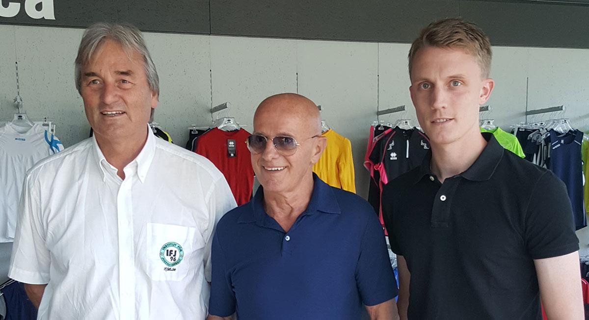 Peter Schreiner und Steven Turek hier mit Arrigo Sacchi